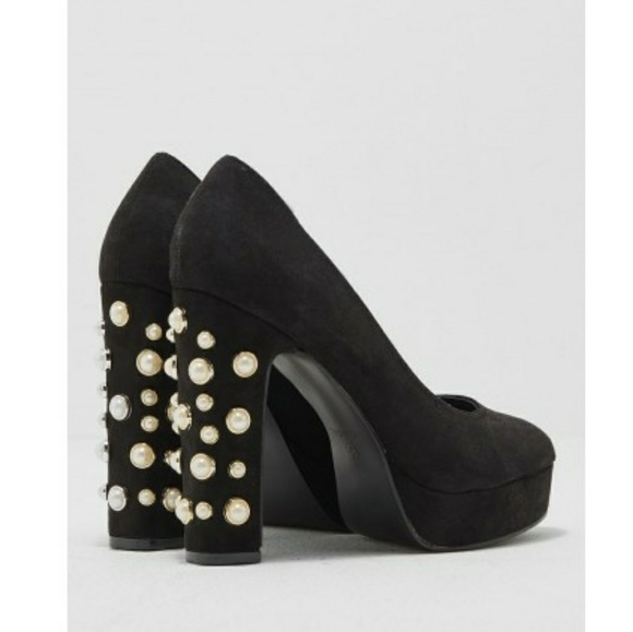 low cost sneakers new release Truffle Collection platform heels, Black / Pearl NWT